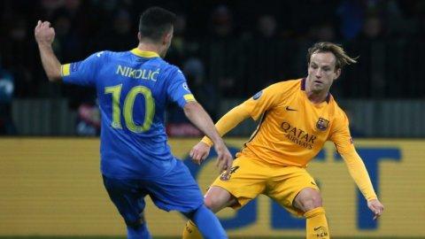 Rakitic marcó un golazo para el Barcelona frente al BATE Borisov