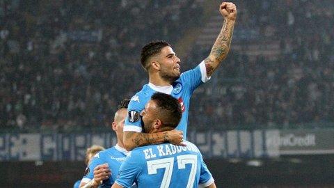 Compacto final del triunfo del Napoli por 5 a 0 sobre Midtjylland