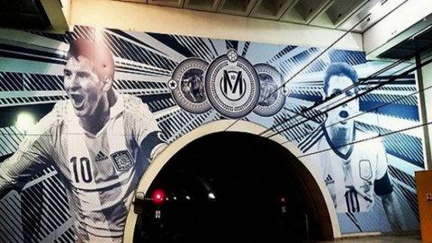 La estación de subte dedicada a Lionel Messi