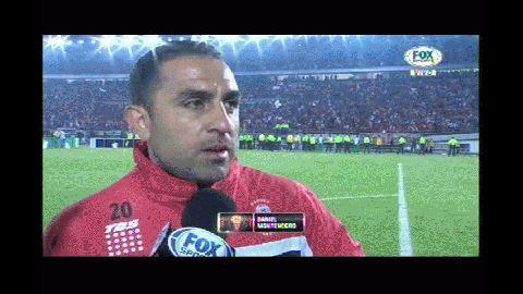 El Rolfi Montenegro con la voz quebrada y lágrima en los ojos tras la Final perdida por Huracán