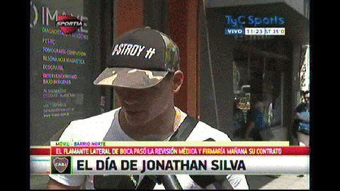 Jonathan Silva, feliz por su arribo a Boca