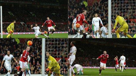 Rooney un taco genial para anotar ante Swansea