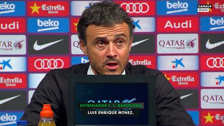 Luis Enrique se refirió a la lesión de Lionel Messi