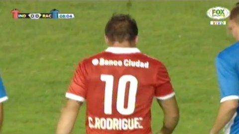 Lo tuvo el Cebolla Rodríguez en el clásico entre Independiente y Racing