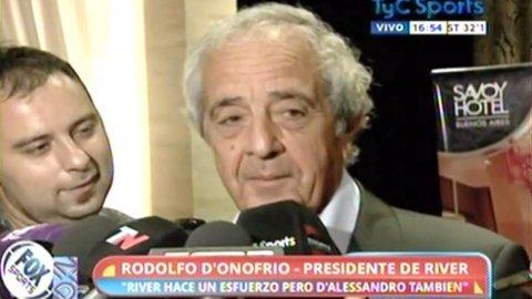 Rodolfo DOnofrio se envalentonó y soñó con los regresos de Gonzalo Higuaín y Javier Mascherano