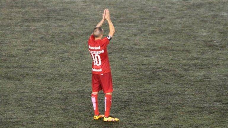 La despedida de DAlessadro del Inter, siendo campeón de la Recopa Gaúcha