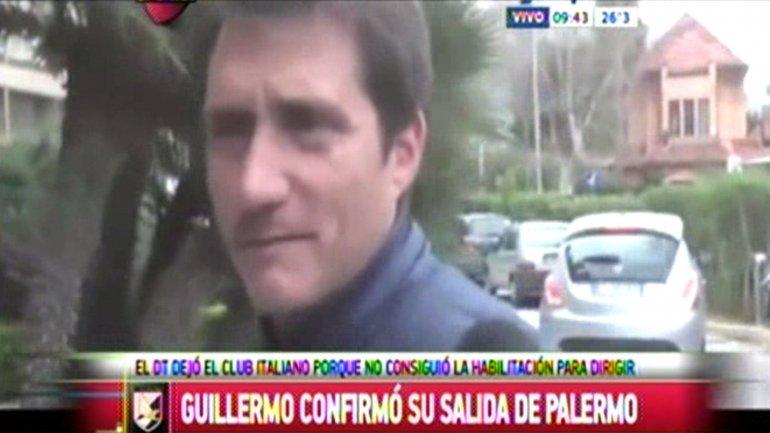 Guillermo Barros Schelotto confirma su salida del Palermo