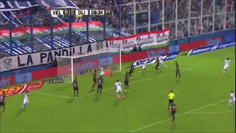 Gol de Nasuti. Vélez 1 - Olimpo 0. Fecha 2. Campeonato de Primera División 2016