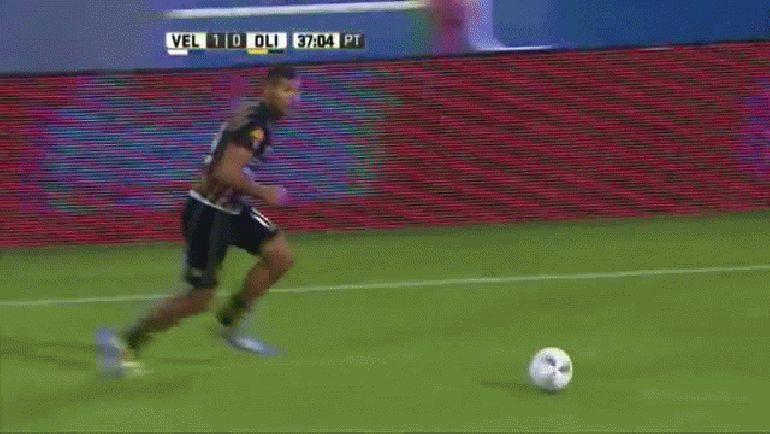 Gol de Acuña. Vélez 1 - Olimpo 1. Fecha 2. Campeonato de Primera División 2016