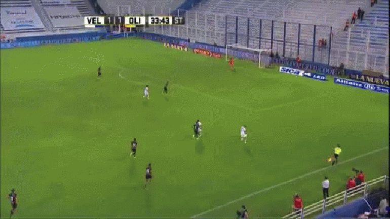 Gol de Romero. Vélez 2 - Olimpo 1. Fecha 2. Campeonato de Primera División 2016