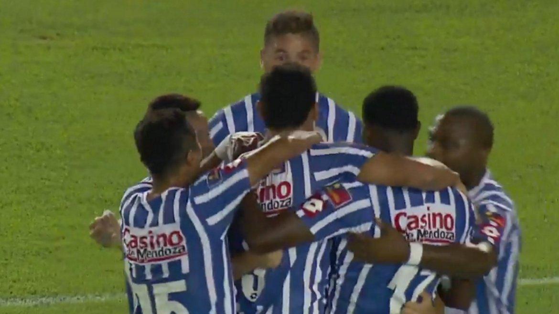 Gran jugada de Pol Fernández para el gol de Diego Viera en Godoy Cruz