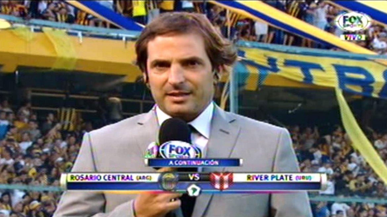 El insulto que se le escapó al cronista de Fox Sports durante Rosario Central-River de Uruguay