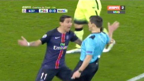 El enojo de Ángel Di María al exigir un penal