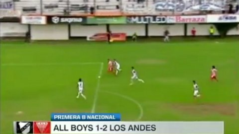 El polémico penal que cobró Diego Ceballos en All Boys-Los Andes