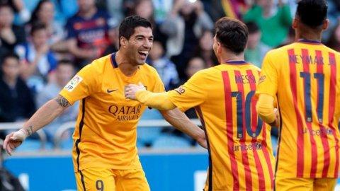 Lionel Messi y dos asistencias de lujo para los goles de Luis Suárez