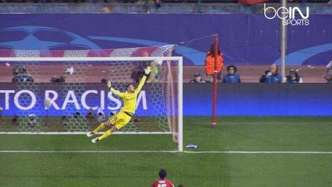 El disparo de Alaba que hizo temblar a todo el Vicente Calderón en Atlético Madrid-Bayern Münich