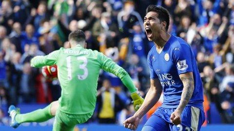 Los 6 goles de Leonardo Ulloa para el campeón Leicester