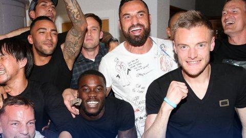 Los primeros cuatro minutos como campeones de la Premier League de los jugadores del Leicester