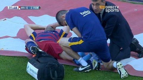 El momento de la lesión de Javier Mascherano que lo sacó del campo de juego