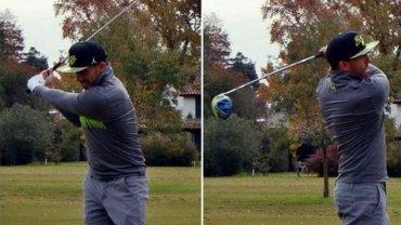 Tevez se relajó jugando al golf, tras la emotiva clasificación a Semis de la Copa Libertadores
