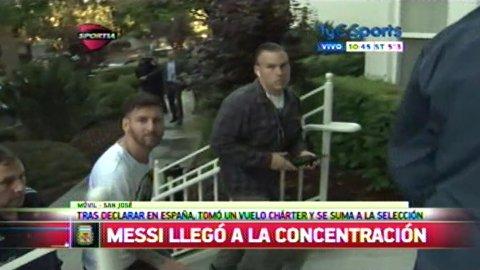 Messi llegó a Estados Unidos para jugar la Copa América Centenario