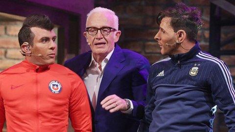 Otra brillante interpretación de Martín Bossi, en la piel de Lionel Messi